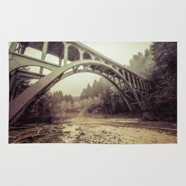 Cape Creek Bridge Oregon Coast Rug