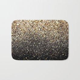 Black & Gold Sparkle Bath Mat