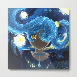 Starry Night Eye Metal Print