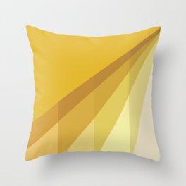 New Heights - Gold Throw Pillow