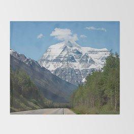 Mount Robson Photography Print Throw Blanket