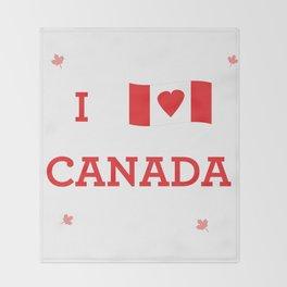 I heart Canada Throw Blanket