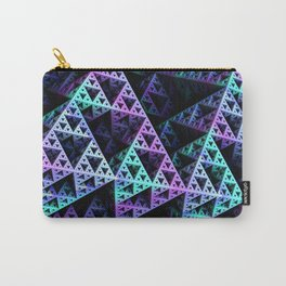 Lilac Ice 3D Sierpinski Triangle Fractal Art Carry-All Pouch
