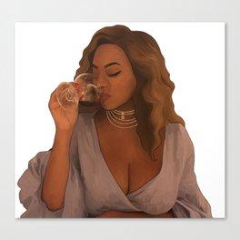 Queen Bey digital art Canvas Print