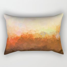 Chatanooga, Tennessee Skyline - In the Clouds Rectangular Pillow