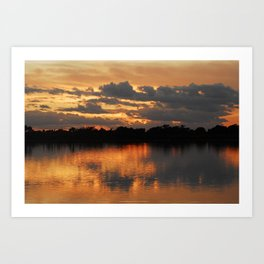 Still waters Art Print