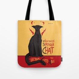 d'Electricité Statique Chat [Staticat] Tote Bag