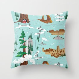 National Parks Throw Pillow