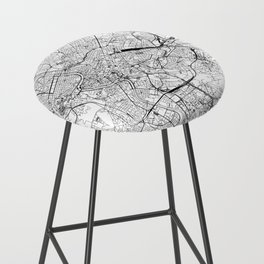 Rome White Map Bar Stool