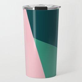 Geometric design in pink & green Travel Mug