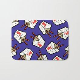 Take-Out Noodles Box Pattern Bath Mat