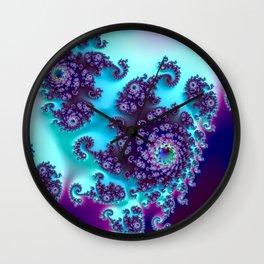 Jewel Tone Fractal Wall Clock