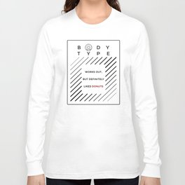 Works Out Loves Donuts Long Sleeve T-shirt