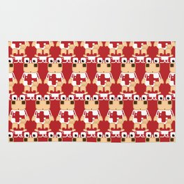 Super cute cartoon cow in red - a moo-st have design for  cow enthusiasts! Rug