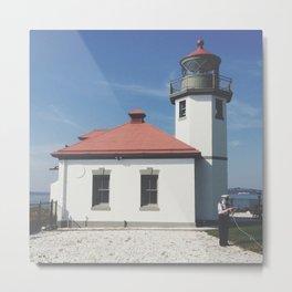 Alki Point Lighthouse Metal Print