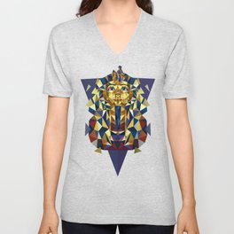 Golden Tutankhamun - Pharaoh's Mask Unisex V-Neck