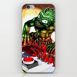 Push the Button iPhone Skin