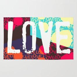Valentines LOVE funky 1 Rug