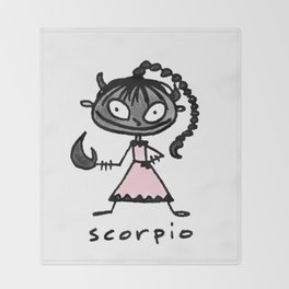 cuteness sprinkled with a dash of scary, because...well, scorpio Throw Blanket