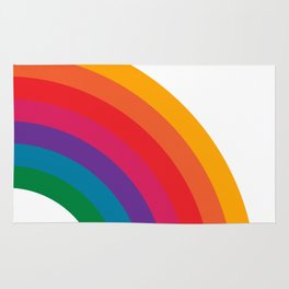 Retro Bright Rainbow - Right Side Rug