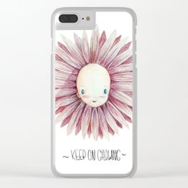 Keep on growing Clear iPhone Case