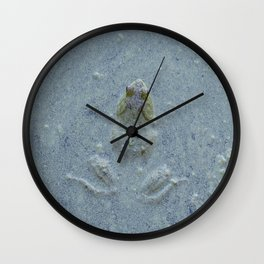 Frog in bluish water at Billy J. Frank Nisqually National Wildlife Refuge Wall Clock