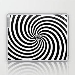 Black And White Op Art Spiral Laptop & iPad Skin