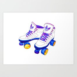 Roller Derby skaters Art Print