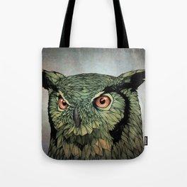 Owl - Red Eyes Tote Bag