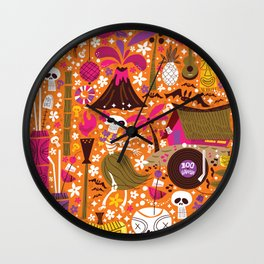 Tiki Freaks do the Hulaween Wall Clock