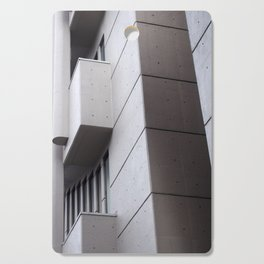 Brutalist concrete abstract - roger stevens building leeds Cutting Board