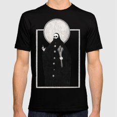 The Tarot of Death LARGE Black Mens Fitted Tee