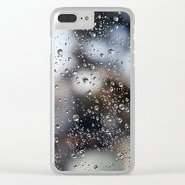 Droplets Clear iPhone Case