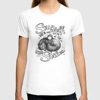 sterek T-shirts featuring Sterek Sleepy Wolf & Stiles III by siny