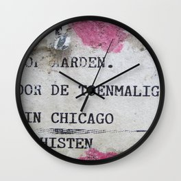 Urban poetry Wall Clock
