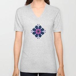 Dark Violet Mandala Unisex V-Neck