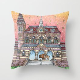 Chapel Hall Gallaudet University Throw Pillow
