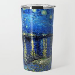 Starry Night Over the Rhone by Vincent van Gogh Travel Mug