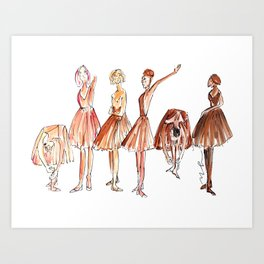 Ballerina Friends Art Print