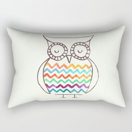 Chevron Owl Rectangular Pillow