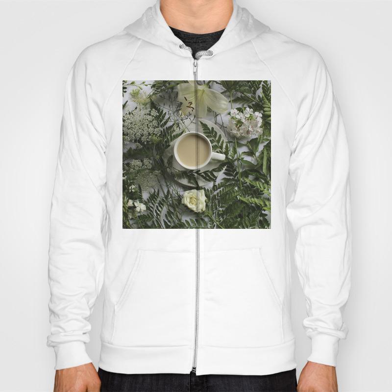 Flowers And Coffee Hoody by Irishvikingdesigns SSR8822170