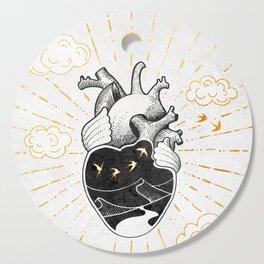Desert Heart Inktober :: More Magick Cutting Board