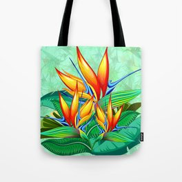 Bird of Paradise Flower Exotic Nature Tote Bag