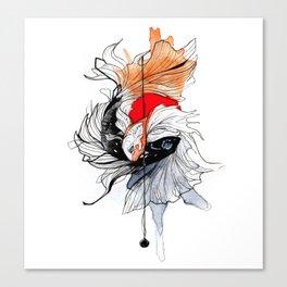 BETTA SPLENDENS INKTOBER Canvas Print