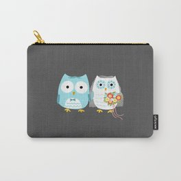 Owls Wedding Day | Bride and Groom Carry-All Pouch