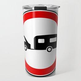 Caravan Road Traffic Sign Travel Mug