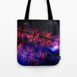 Space Triangles Tote Bag