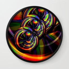 Creations in the color spectrum of the rainbow 3 Wall Clock