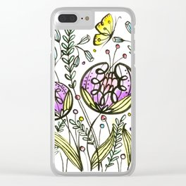 Flowers by Doodling Clear iPhone Case