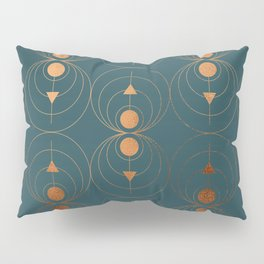 Copper Art Deco on Emerald Pillow Sham